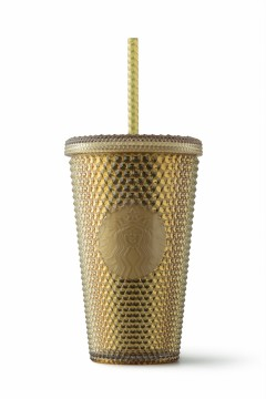Starbucks® Cold Cup Bling Gold 16oz