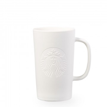 Starbucks® Etched Siren Mug - Matte White - Short