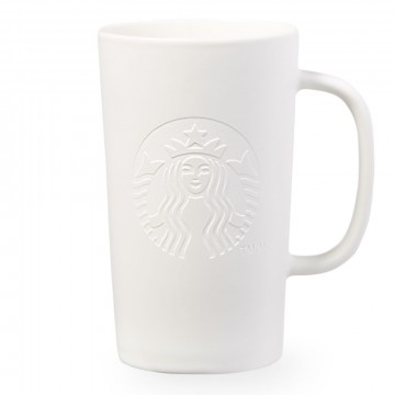Starbucks® Etched Siren Mug - Matte White - 14oz