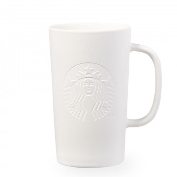 Starbucks® Etched Siren Mug - Matte White - Tall