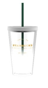 Starbucks ®  White/Copper Cold Cup